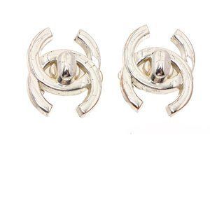 Chanel CC Turn Lock Clip-On Earrings